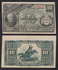 Argentina - 10 Centavos 1884  Pick 6(1)  MBC = VF