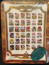 """Channel Craft Flags of America in a Tin 550 Piece Jigsaw Puzzle, New! 18"""" x 24"""""""