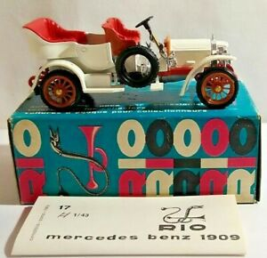 RIO 1:43 SCALE DIECAST 1909 MERCEDES-BENZ GERMANIA - WHITE - #17 - BOXED