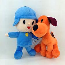 2X Pocoyo Plush Toy Pocoyo Loula Boy Pet Puppy Dog Stuffed Animal Soft Doll
