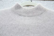 Vgt Rosanna Sweater Tunic Fuzzy LambsWool Angora Beige Cream Pink Ribbed S Small