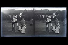 Indochine Viêt Nam France Colonie Photo M5 Plaque de verre Stereo NEGATIVE