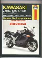 Kawasaki GPZ 900 ZX10 ZZR 1100 (83-94) Haynes Repair Manual 1000 RX ZX 10 CJ18
