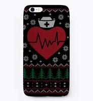 Nursing Nurse Ugly Christmas Sweater Gift Phone Case iPhone