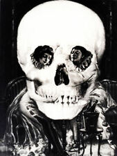 Large Framed Print - Salvador Dali Gothic Skull (Painting Picture Poster Goth)