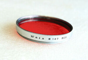 40.5mm Walz 107 RED Contrast Filter - Silver Chrome - NEW
