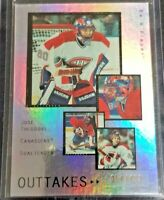 2005-06 Jose Theodore UD Be A Player Outtakes #OT28 #054/499 Montreal Canadiens