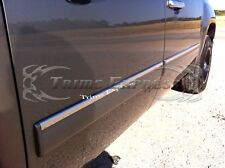 "2007-2013 GMC Sierra Crew Cab 4Pc Chrome Body Side Molding Overlay Top 1"" Trim"