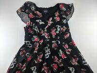 ModCloth x Anna Sui Size 16 Velvet Floral Burnout Sheer Chic Maxi Dress H2