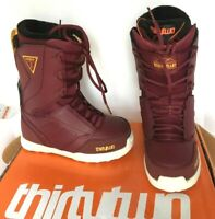 $240 ThirtyTwo W's Lashed Lace Up Snowboard Boots Burgundy NIB 32 Size 7 or 9