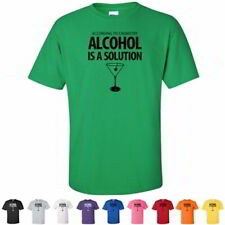 According To Chemistry Alcohol Is A Solution Funny Nerd Drinking Mens T Shirts