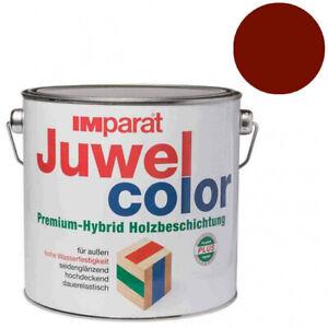 "IMparat Juwel Color 2,5l ""Englischrot"" Wetterschutzfarbe Holzfarbe"
