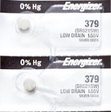2 x Energizer 379 Watch Batteries, 0% MERCURY equivilate SR521SW