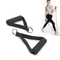Resistance Band Handle Rope Bar Attachment Foam Handlebar Dip Station Fitness f