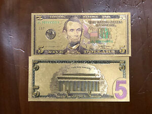 Banknote 💵 UNITED STATES 🇺🇸- Novelty $5.00 Note Lincoln #59A