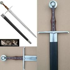 Traditional Medieval Hand and a Half Combat Sword - Hand Made EN45 Blade