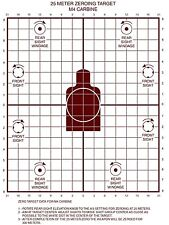 Lot of 20 Military 25 METER ZEROING Practice TARGETS M16A2/M16A1 AR15