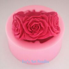Flexble Silicone Soap/Candle Mold/Mould 3D Round Rose