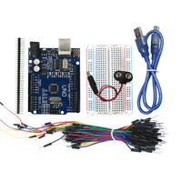 DIY Starter Kit:Arduino Uno R3,Breadboard,65 Jumper Wires,USB Cable,9V Connector