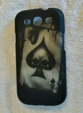 Black Ace of Spades skull Rubberized samsung galaxy 3 cell phone case