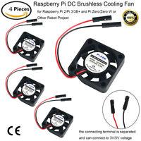 4pcs DC Brushless Cooling Fan Heatsink Cooler for Raspberry Pi 2/Pi/3/3B+ Zero/W