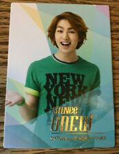 SHINee ~ Onew ~ SMTOWN Tour 3 Official Photocard ~ Silver Seoul Version ~ Rare ~