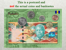 Postcard: Barbados Circulating Coins and Currency (Banknote) 2013