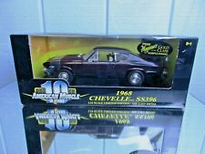ERTL AMERICAN MUSCLE Cordovan 1968 Meguiars CHEVELLE SS 396  1/18 Toy car Lot
