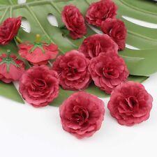 20X Artificial Fake Flower Heads Bulk Silk Small Win red Rose Floral Craft Decor