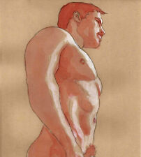 ORIGINAL MALE NUDE solluble sanguine - LUKE - by GERMANIA