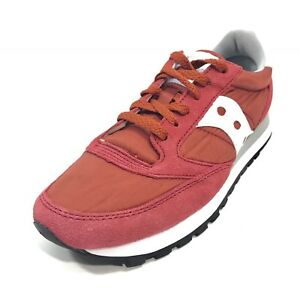 NEW Saucony Mens Jazz Original Casual Fashion Sneakers Red White Sz 8 S2044-386
