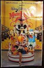 "1983 Walt Disney MAGIC KINGDOM ON ICE Poster VG 4.0 23x36"" Mickey Mouse"
