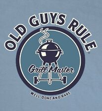 """OLD GUYS RULE """" WELL DONE AND RARE """" GRILL MASTER BBQ S/S 2X"""