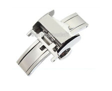 16mm Stainless Steel Deployment Butterfly Clasp Buckle for Longines
