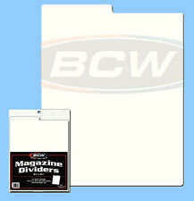 BCW: Tabbed Box Dividers: MAGAZINE SIZE: 28-mil Poly / 300 count / CASE-LOT