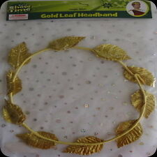 gold leaf headband Egyptian Empress Crown Head adam and eve roman Adult Costume