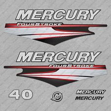 Mercury 40 hp Four Stroke EFI outboard engine decals sticker set reproduction