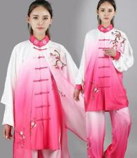 Chinese Gradient Color Tai Chi Uniform Traditional  Clothes Embroidered Martial