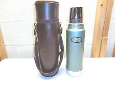 Vintage Aladdin Stanley 1 Qt. Vacuum Thermos & Carry Case~Nice!
