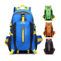 40L Waterproof Outdoor Backpack Camping Luggage Rucksack Hiking Travel Nylon Bag