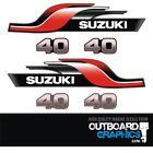 Suzuki 40hp 2 Stroke Outboard Engine Decalssticker Kit