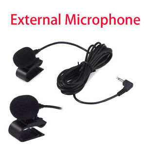 3.5mm Car Stereo External Microphone for Bluetooth Enabled Stereo GPS DVD Radio