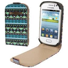 Vertikal Flip Tasche für Samsung S6810 Galaxy Frame Azteken Design IV Case Hülle