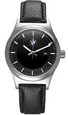 Reloj de Pulsera BMW Genuine clásica para hombre Negro Correa de Cuero Impermeable 80262365447