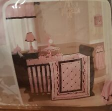 Lambs & Ivy Angelina Pink & Brown Bedding - Lot of 6 - FREE SHIPPING!!