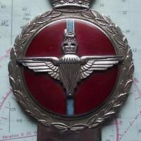 Original Vintage Car Mascot Badge British Army Parachute Regiment by Gaunt B