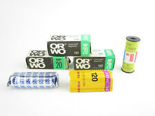 6x diverse películas 120 roll película Orwo np20 nc19 kodak portra 160 VC caducado Exp.