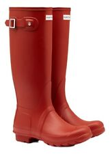 WAREHOUSE SALE New Ladies Original Hunter Wellies Wellington Boots Red Size 5