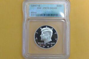 1997-S Silver Kennedy Proof Half Dollar ICG PR70 DCAM