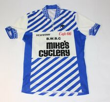 Vtg Schwinn Bwbc Mike's Cyclery Cafe 66 Assos Swiss Made Bicycle Cycling Jersey